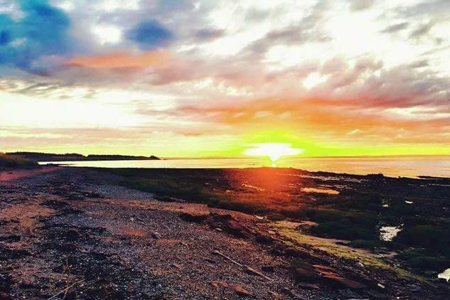 Local Sunset across the shoreline